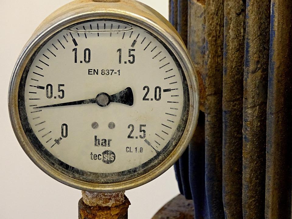 Pressure Gauge, Gauge, Water Pressure, Ad, Valve, Old