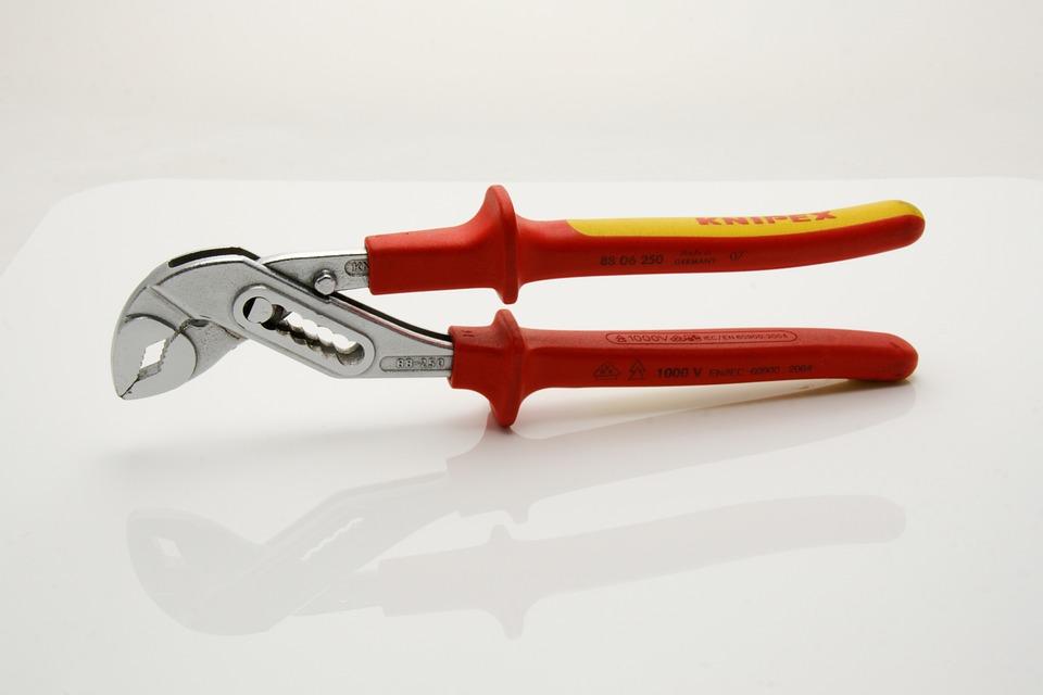 Pliers, Tool, Water Pump Pliers, Pipe Wrench, Metal