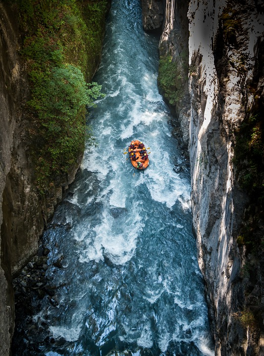 Rafting, Gorge, Whitewater, Adventure, Outdoors, Water