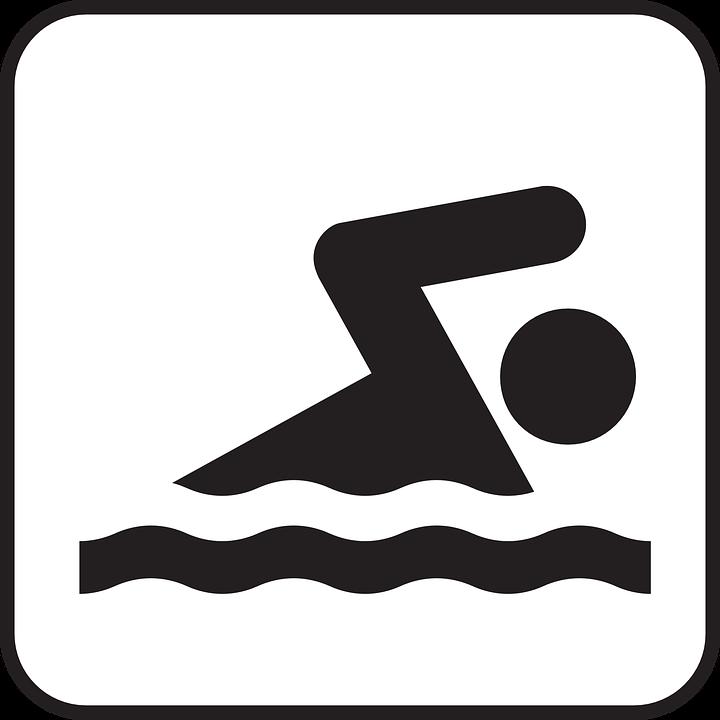 Swimming, Sports, Crawl, Recreation, Water, Symbol