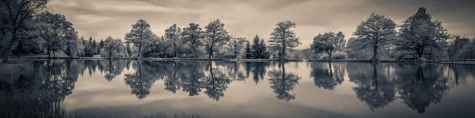 Panorama, Landscape, Reflection, Lake, Nature, Water
