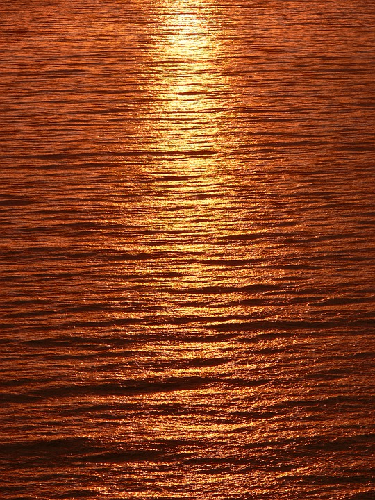 Sunset, Sea, Ocean, Seascape, Water, Water Reflection