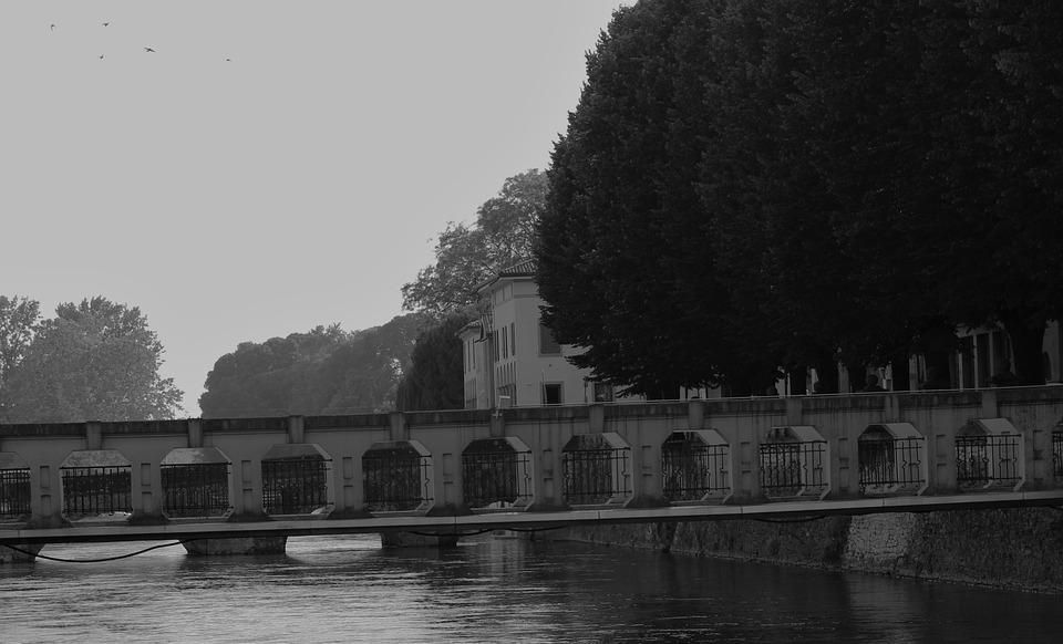 Bridge, City, Architecture, Night, River, Water, Lights