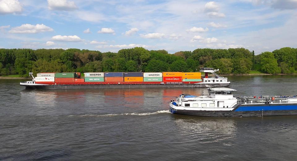 Ship, Rhine, Shipping, Nature, River, Water, Transport