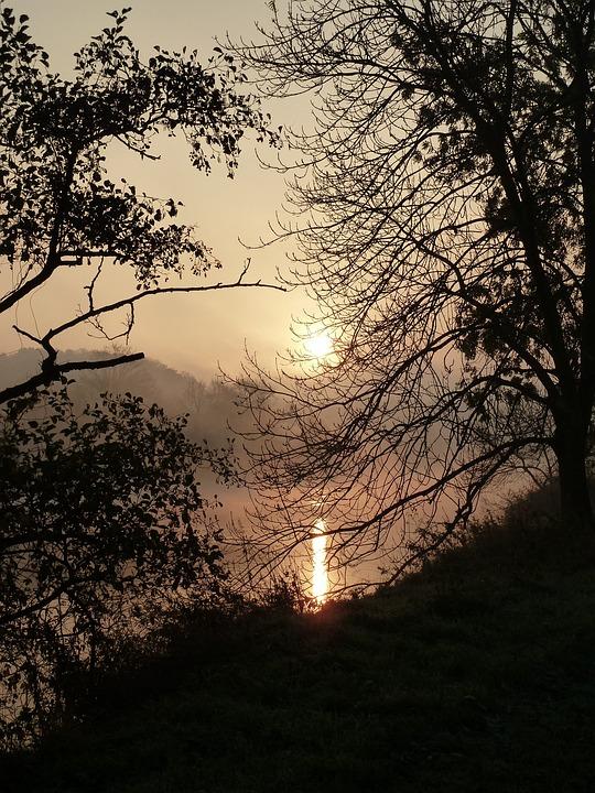 Sunrise, River, Water, Mood, Nature, Morgenstimmung