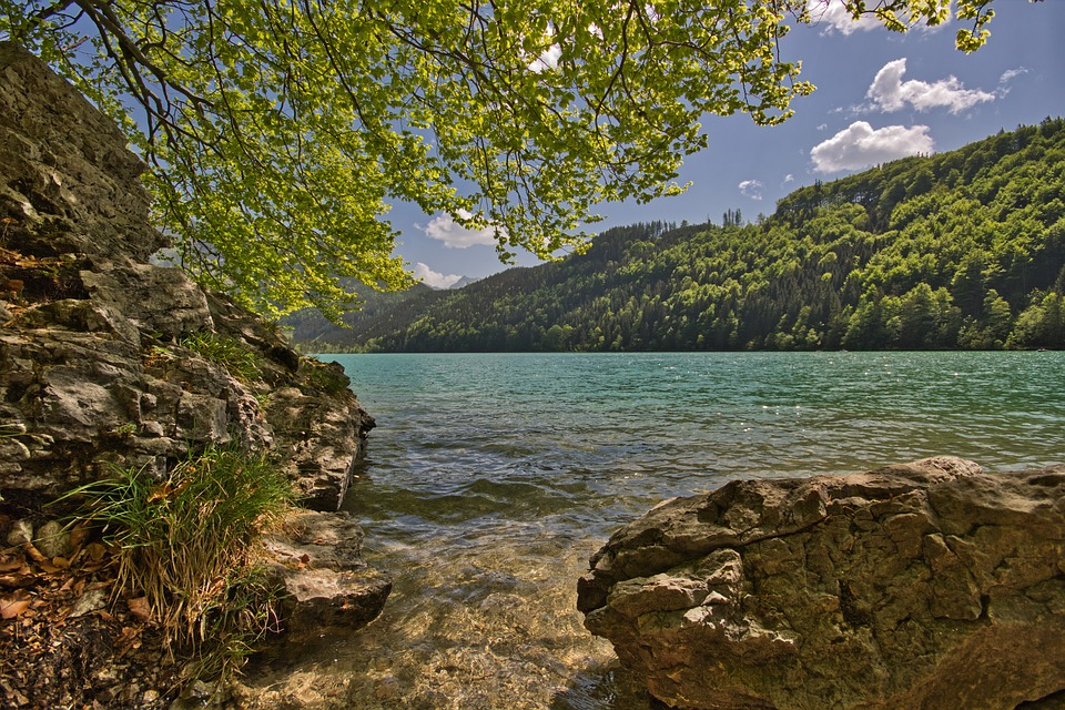 Leopold Steinersee, Styria, Rock, Water, Lake, Iron Ore