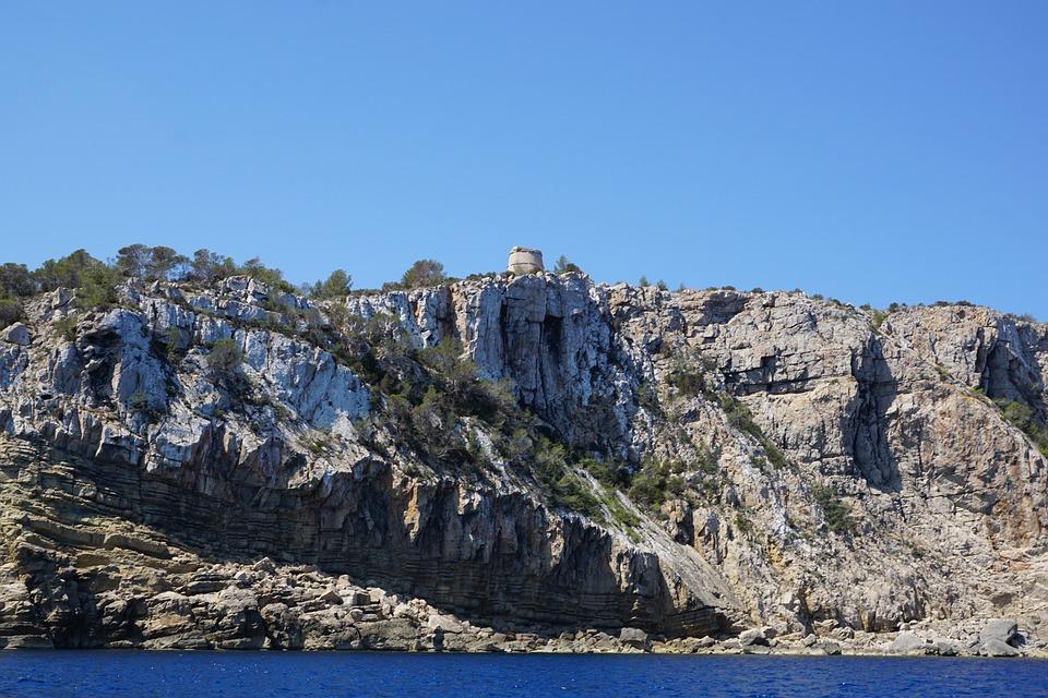 Ibiza, Rock, Sea, Water, Coast