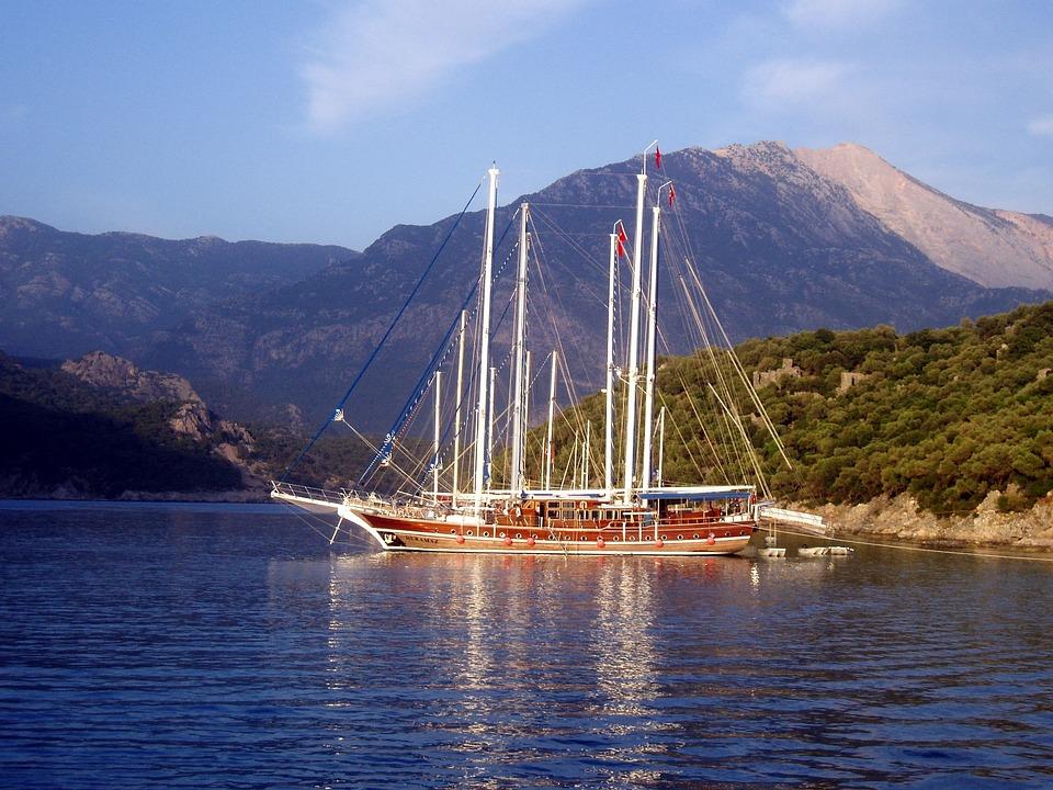Sailing Boats, Zweimaster, Boat, Sail, Water, Mast