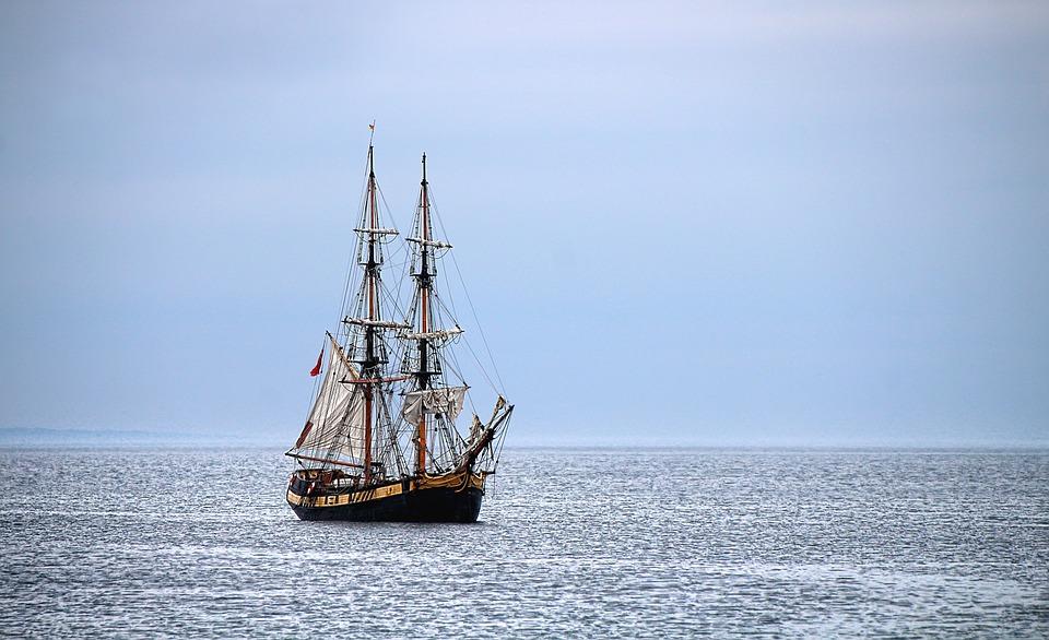Ship, Sea, Sailing Vessel, Sail, Boat, Water, Ocean