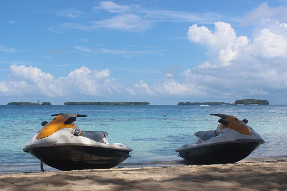 Water Scooters, Pulau Seribu, Travel, Beach, Holiday