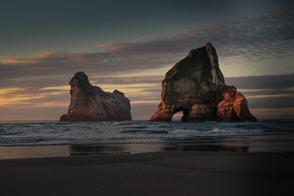 New Zealand, Beach, West, Sea, Coast, Nature, Water
