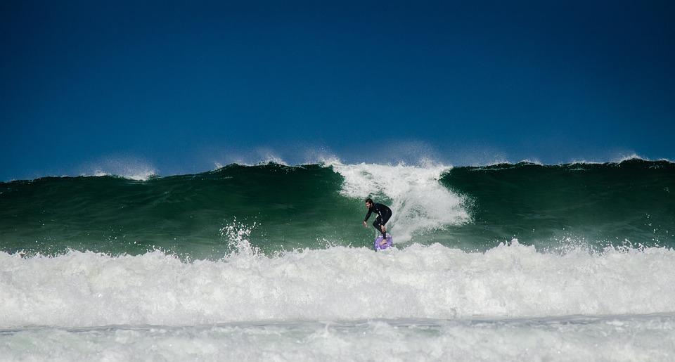 Surf, Wave, Water, Sea, Surfer, Power, Coast, Sport
