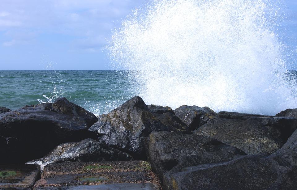 Stones, North Sea, Wave, Sea, Water, Coast, Holiday