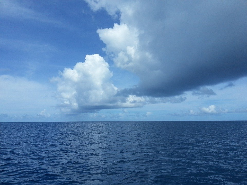 Ocean, Water, Clouds, Sky, Palau, Sea