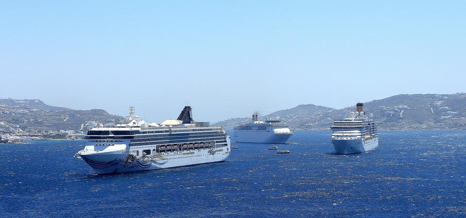 Ships, Cruise Ships, Cruise, Water, Shipping, Sea