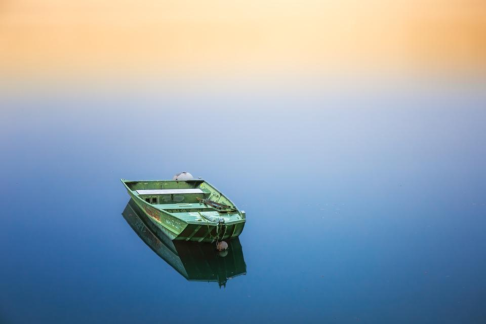 Boot, Silent, Water, Go Boating, Rest, Recovery, Zen