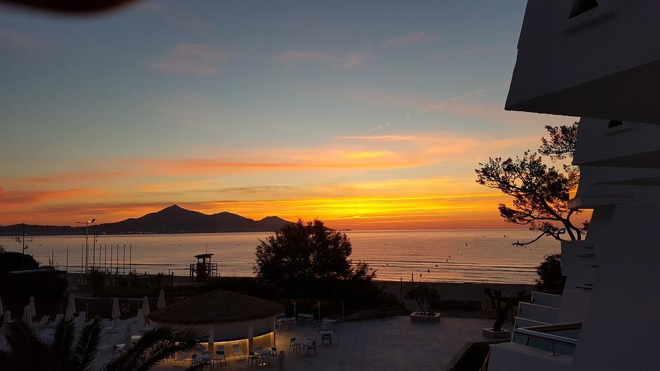 Sunrise, Alcudia, Bay Of Alcudia, Sea, Water, Sky