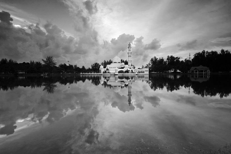 Black, White, Black And White, Architecture, Sky, Water