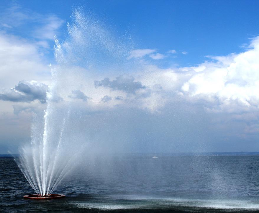 Fountain, Water Feature, Mood, Water, Clouds, Sky, Wind