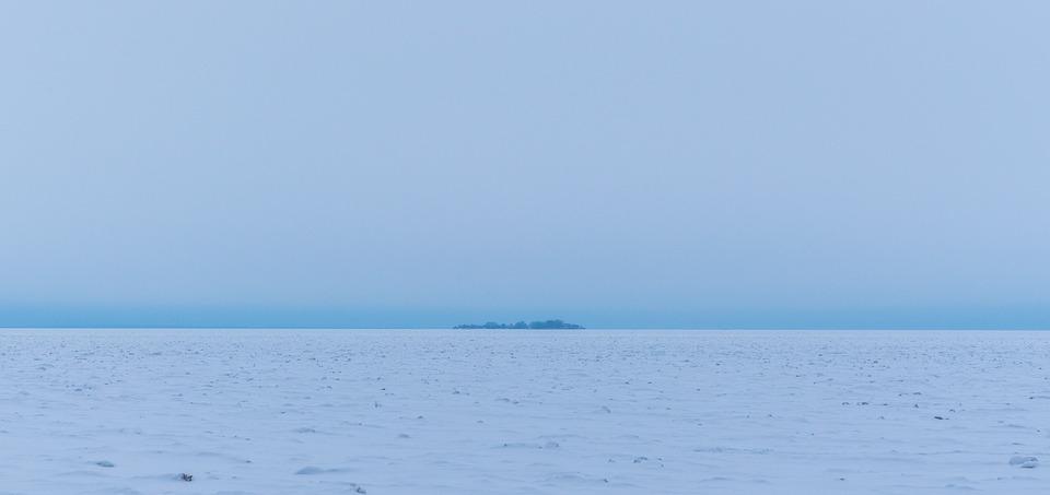 Nature, Sky, Water, Landscape, Island, Ice, Snow