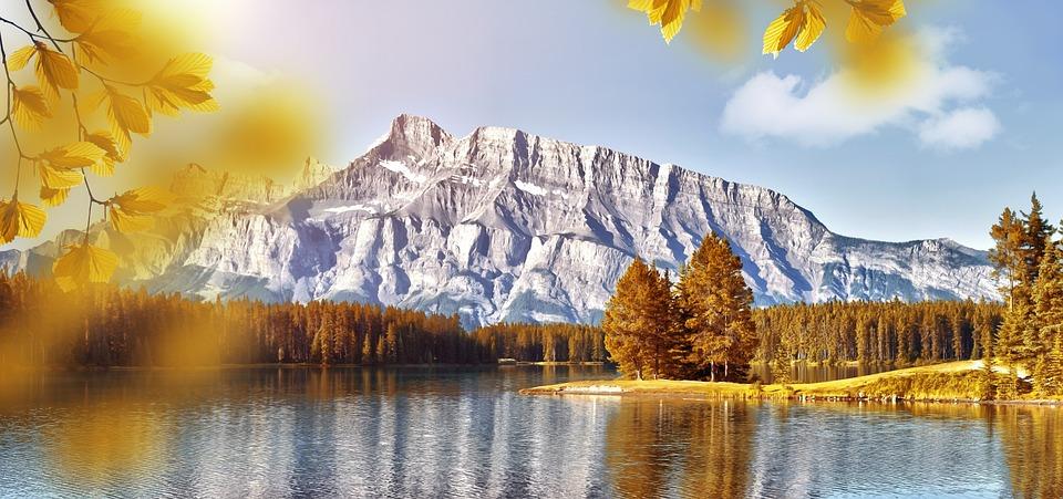 Landscape, Nature, Lake, Mountains, Sky, Water, Autumn
