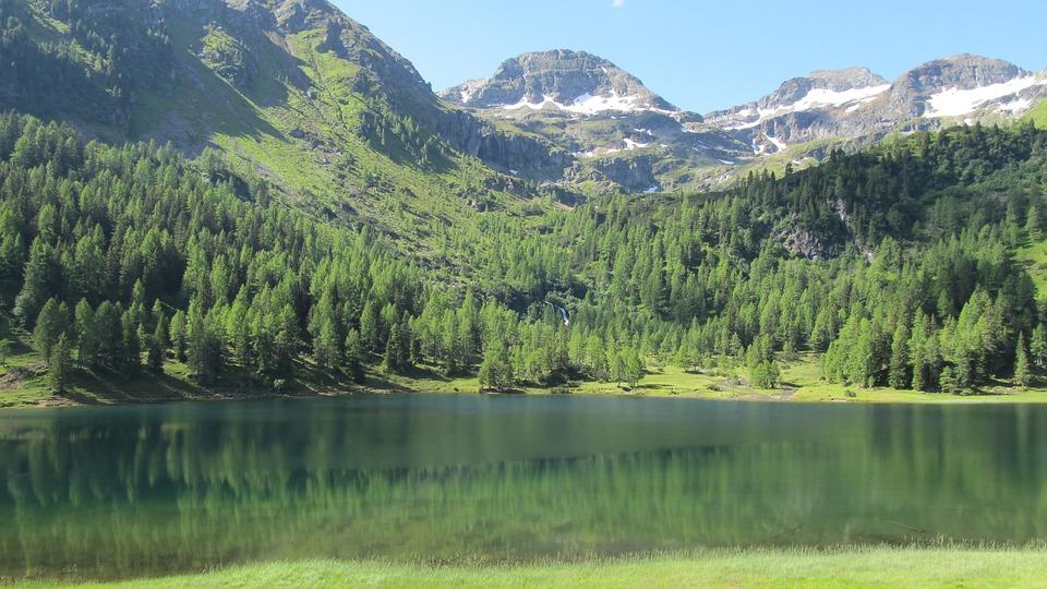 Mountain, Lake, Water, Sky, Nature, Scene, Peaceful