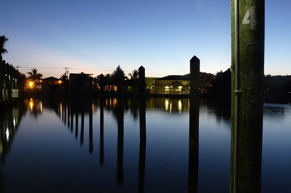 Twilight, Florida, Sky, Water, Usa, Night, Atmosphere