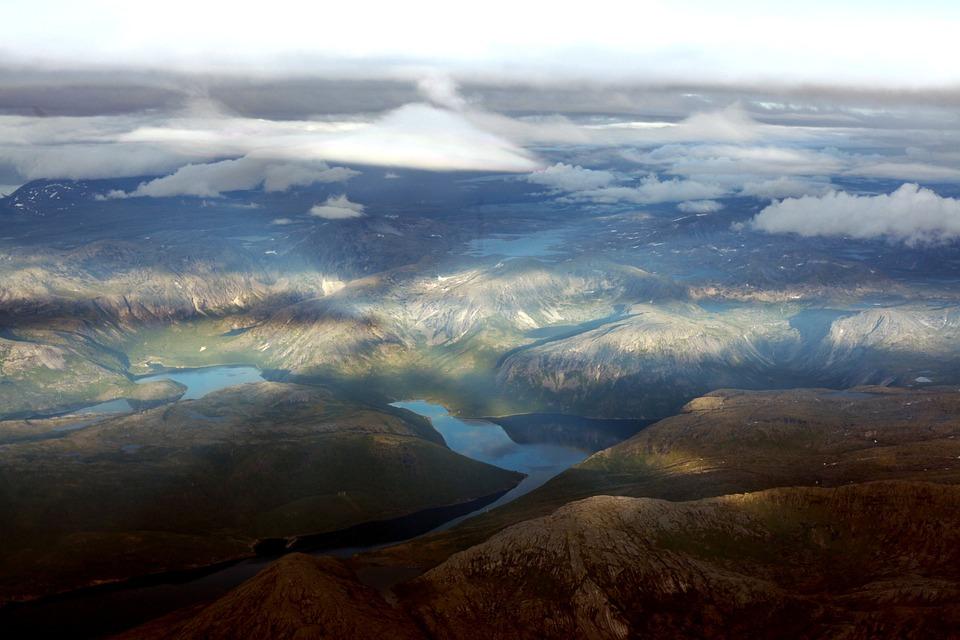 Mountains, Clouds, Sky, Air, Norway, Water, Rocks