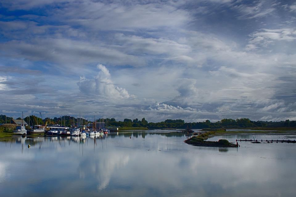 Water, Reflection, Sky, Lake, Panoramic, Cloud