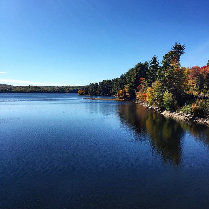 Lake, Reservoir, Water, Landscape, Nature, Sky, Summer
