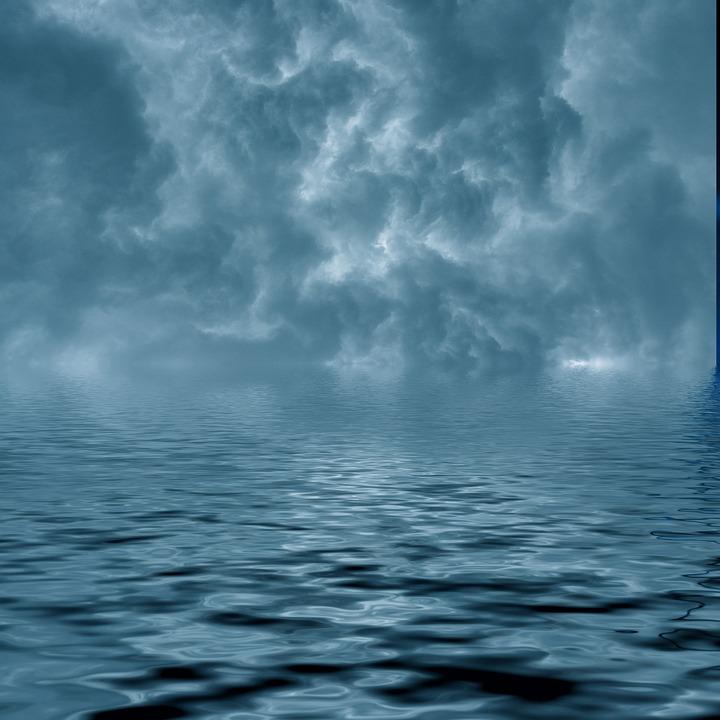 Water, Clouds, Background, Mirroring, Sky, Lake, Sea