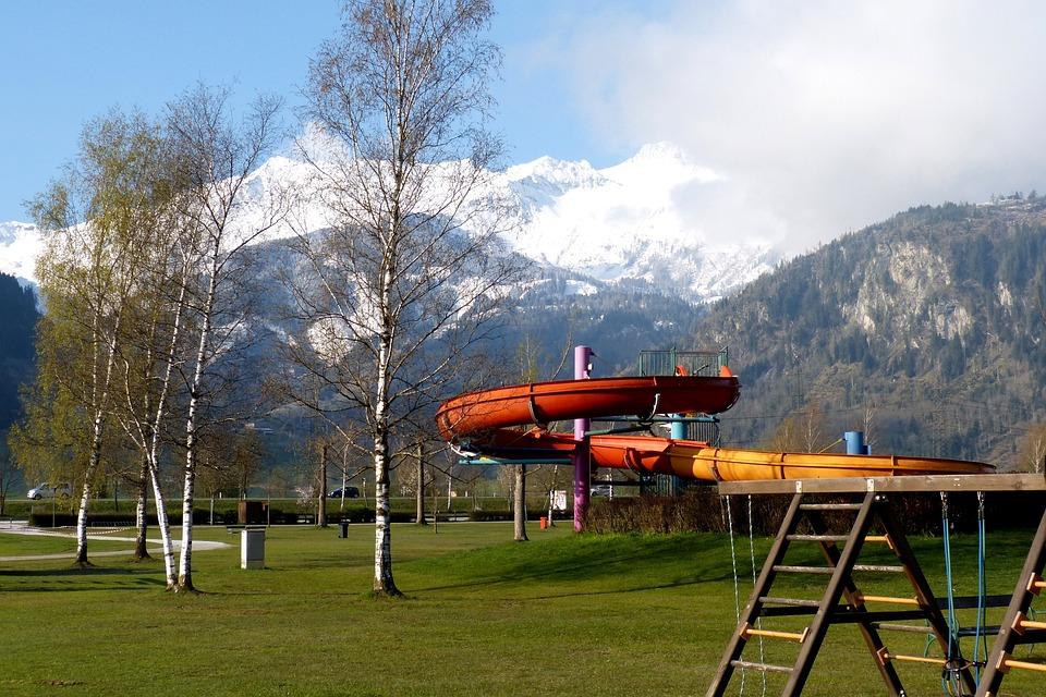 Playground, Water Slide, Uttendorf, High Tauern