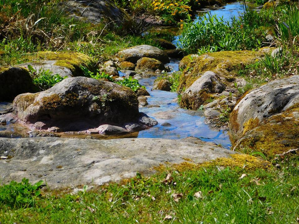 River, Small River, Bach, Water, Nature, Flow