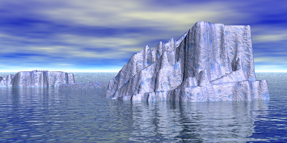 Iceberg, Water, Ocean, Sea, Frozen, Blue, Snow, Winter