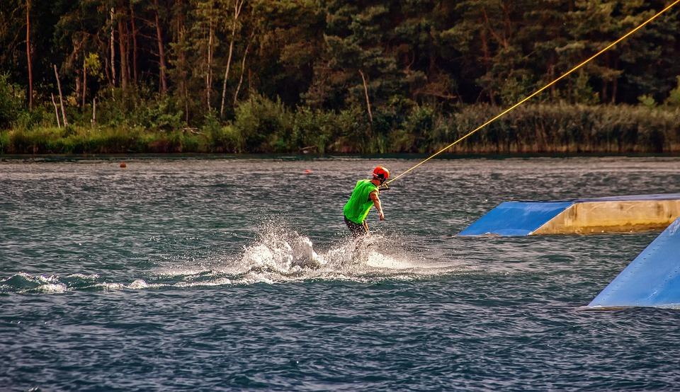 Water, Sport, Water Sports, Wakeboard, Leisure, Lake