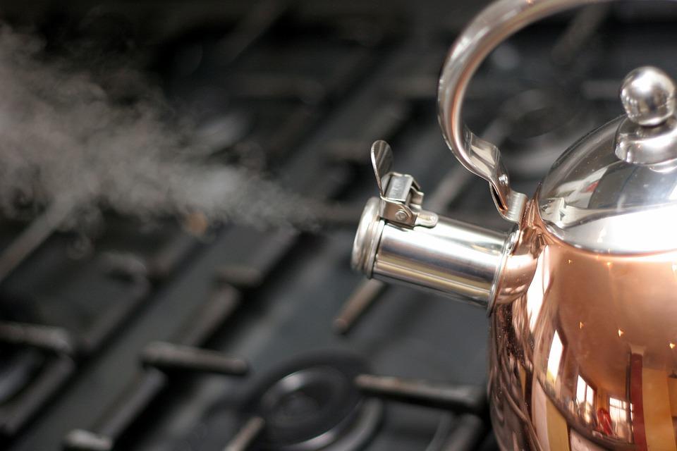 Kettle, Copper, Steam, Boiling, Boil, Water, Ready