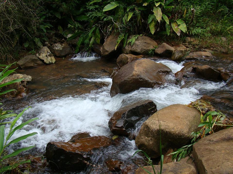 Stones, Cascade, Water