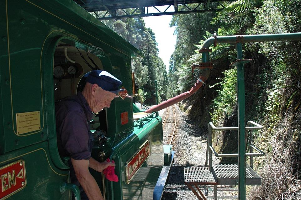 Train, Steam Locomotive, Water Stop