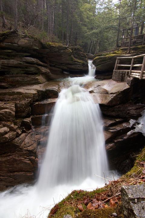 Stream, Creek, Cascade, Waterfall, Flow, Motion, Water