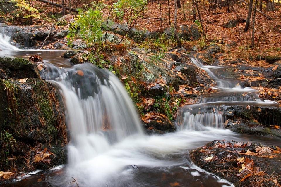 Waterfall, Cascade, Water, Nature, Landscape, Stream