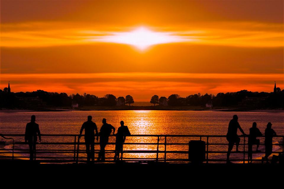 Sunset, Water, Sky, Sea, Beach, Sun, Ocean, Sunlight