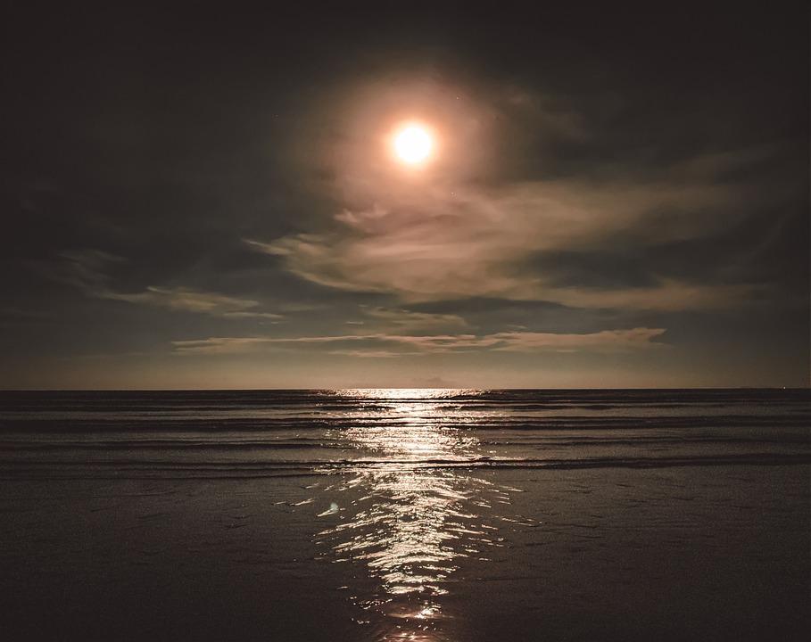 Sea, Sun, Sky, Clouds, Waves, Sunlight, Water, Sunset