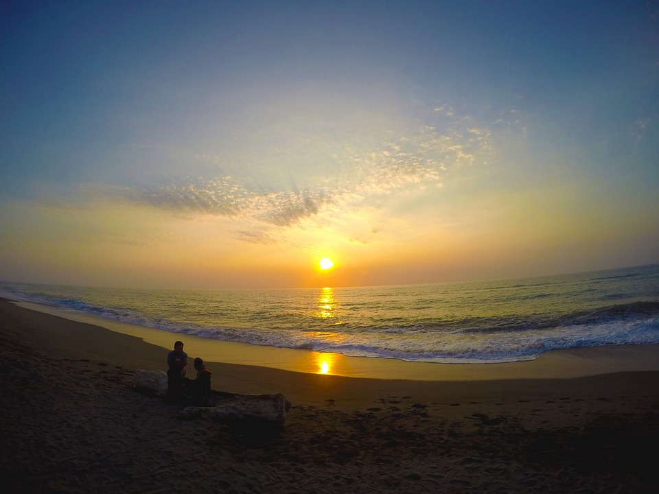 Sunset, Sunrise, Beach, Sea, Ocean, Nature, Water, Sky