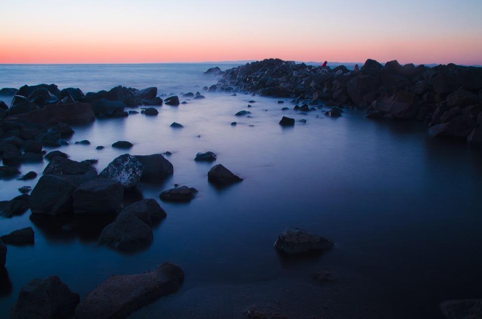 Water, Sunset, Sky, Sea, Blue Sky, Blue Water