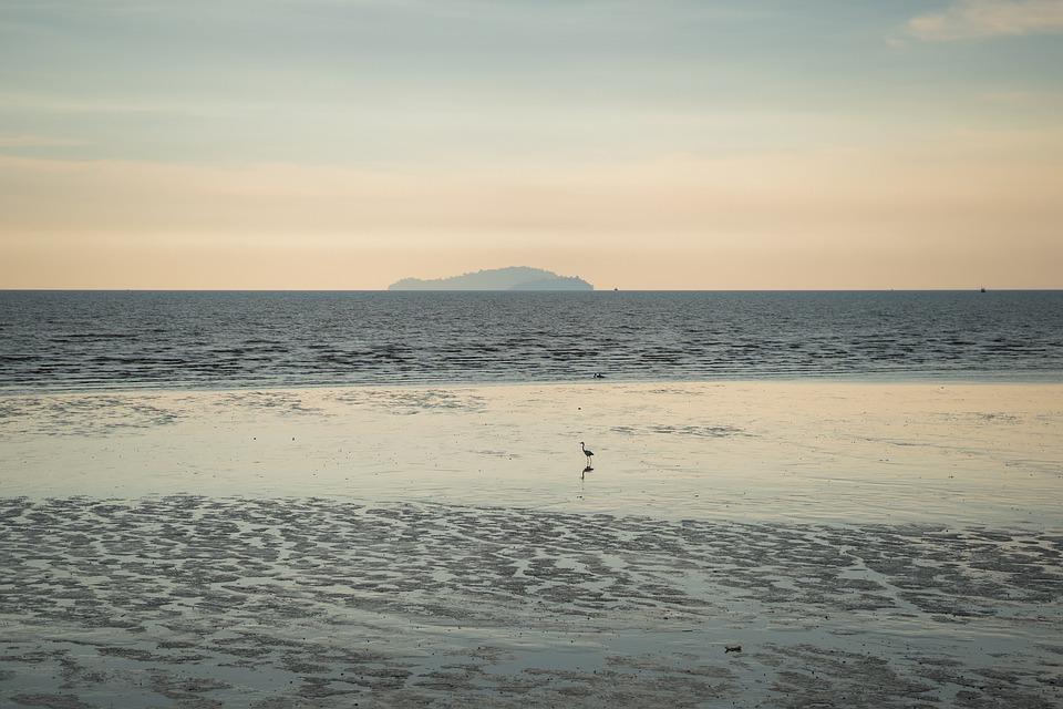 Sea, Seaside, Sky, Water, Beach, Sunset, Cloud, Island