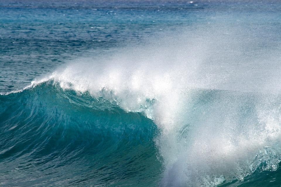Wave, Ocean, Blue, Water, Splash, Motion, Flow, Surf