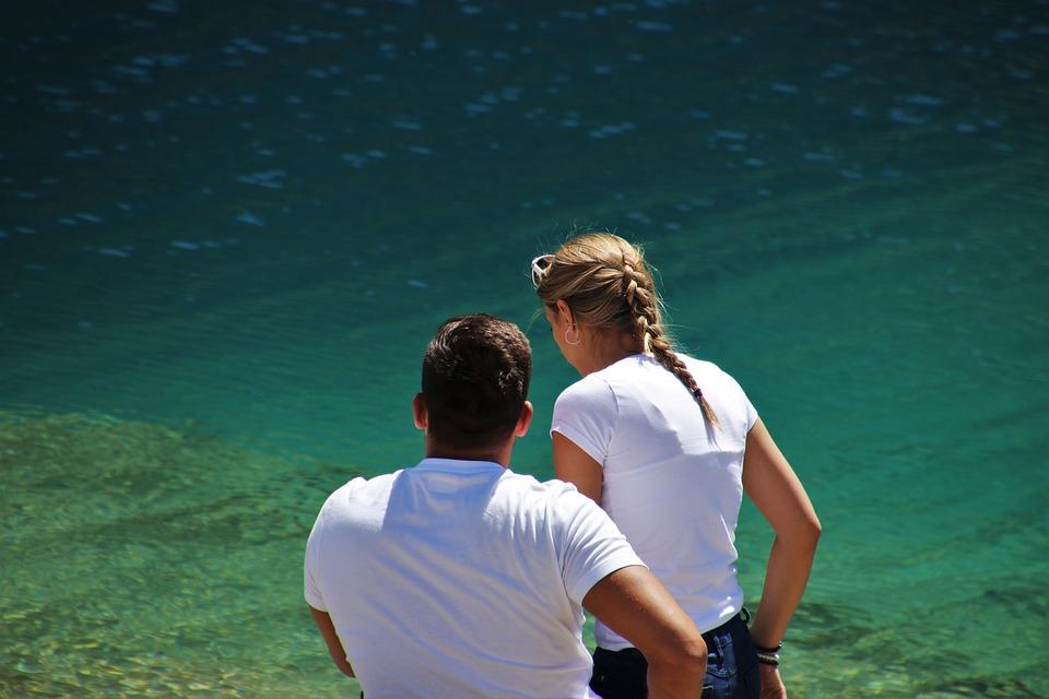 Para, Alpine Lake, Blue Water, Water Surface, Two, Blue