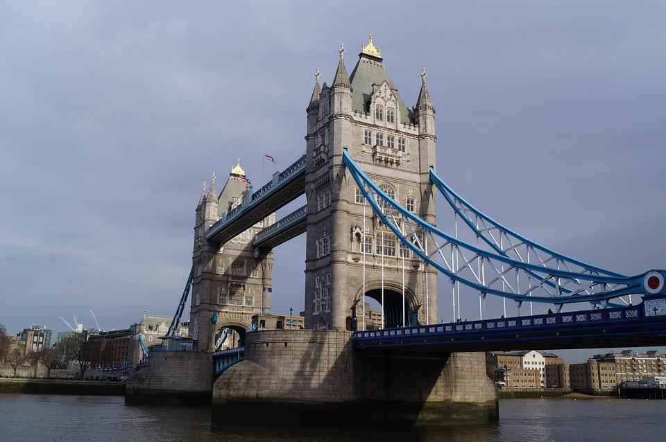 Tower Bridge, The Waterfront, Water, England, London