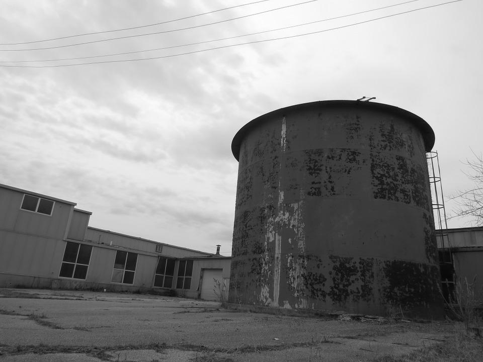 Water, Tower, Factory