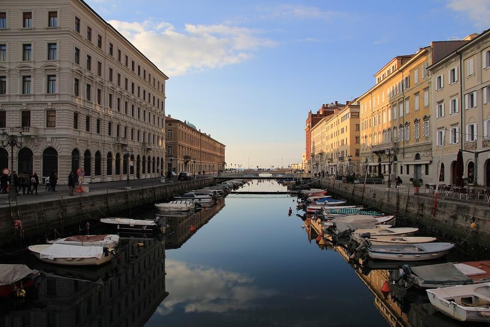 Water, Boat, Channels, Trieste